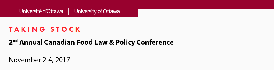 Talimg Stock - 2nd Annual Canadian Food Law & Policy Conference - November 2-4, 2017