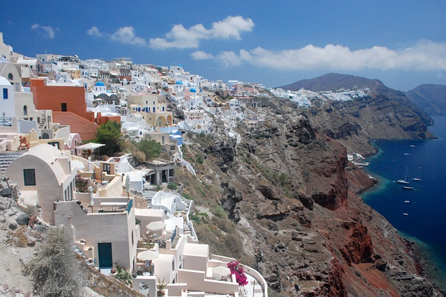 View of Santorini in Greece